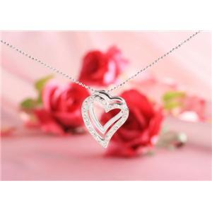 ROSSONA ダイヤモンドコレクション 0.3ct天然ダイヤ20石ペンダント(Heart Boxつき) Love Heartの写真2