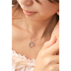 ROSSONA ダイヤモンドコレクション 0.3ct天然ダイヤ20石ペンダント(Heart Boxつき) Love Heartの写真3