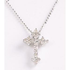 ROSSONA ダイヤモンドコレクション 0.3ct天然ダイヤ20石ペンダント (Heart Boxつき) Classic Crossの写真1