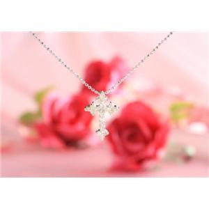 ROSSONA ダイヤモンドコレクション 0.3ct天然ダイヤ20石ペンダント (Heart Boxつき) Classic Crossの写真2