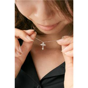 ROSSONA ダイヤモンドコレクション 0.3ct天然ダイヤ20石ペンダント (Heart Boxつき) Classic Crossの写真3