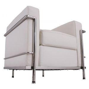 「ル・コルビジェ」デザイン ソファー 1Pホワイト - 拡大画像