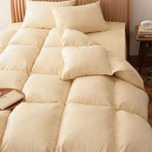 【ベッド専用】新20色羽根布団8点セット ベッドタイプ・シングル アイボリー