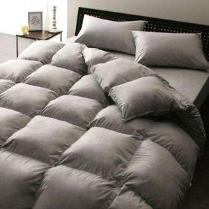 ベッド専用 新20色羽根布団8点セット ベッドタイプ ダブル シルバーアッシュ