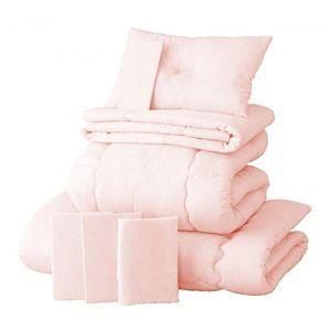 【ベッド専用】新20色羽根布団8点セット ベッドタイプ・セミダブル さくら - 拡大画像