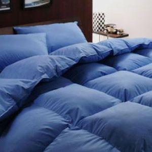 【ベッド専用】新20色羽根布団8点セット ベッドタイプ・セミダブル アースブルー
