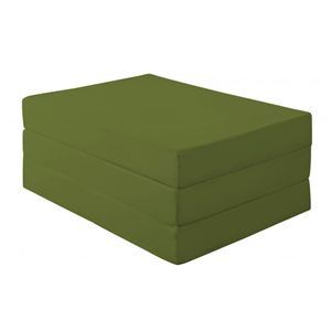 マットレス シングル 厚さ12cm オリーブグリーン 新20色 厚さが選べるバランス三つ折りマットレス - 拡大画像