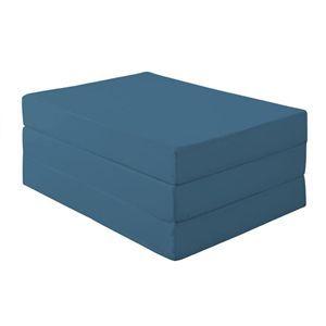マットレス セミダブル 厚さ12cm ブルーグリーン 新20色 厚さが選べるバランス三つ折りマットレス - 拡大画像