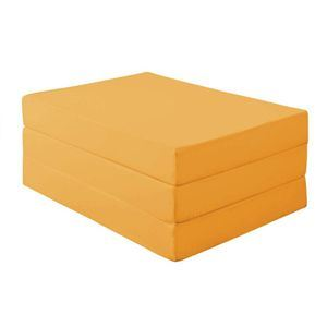 新20色 厚さが選べるバランス三つ折りマットレス 12cm シングル サニーオレンジ - 拡大画像