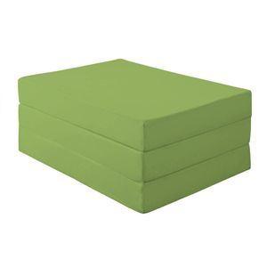 マットレス シングル 厚さ12cm モスグリーン 新20色 厚さが選べるバランス三つ折りマットレス - 拡大画像