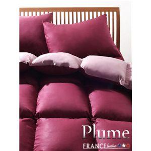 フランス産フェザー100%羽根布団8点セット【Plume】プルーム ベッドタイプ クイーン リュクスボルドー