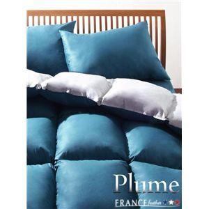 フランス産フェザー100%羽根布団8点セット【Plume】プルーム ベッドタイプ クイーン ブルーアジュール
