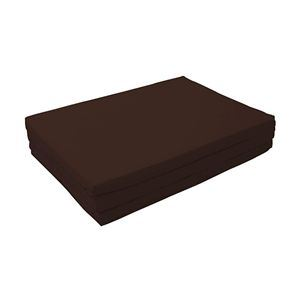 マットレス モカブラウン(仏=ブラウン) セミダブル 厚さ6cm 新20色 厚さが選べるバランス三つ折りマットレス - 拡大画像