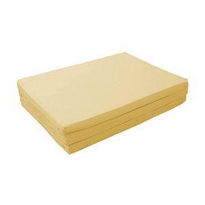 マットレス ナチュラルベージュ(仏=ベージュ) シングル 厚さ6cm 新20色 厚さが選べるバランス三つ折りマットレス - 拡大画像