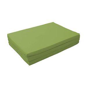 新20色 厚さが選べるバランス三つ折りマットレス 6cm シングル オリーブグリーン - 拡大画像