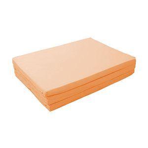 マットレス コーラルピンク セミダブル 厚さ6cm 新20色 厚さが選べるバランス三つ折りマットレス - 拡大画像
