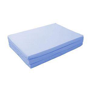 マットレス パウダーブルー セミダブル 厚さ6cm 新20色 厚さが選べるバランス三つ折りマットレス - 拡大画像