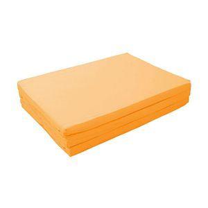 マットレス サニーオレンジ セミダブル 厚さ6cm 新20色 厚さが選べるバランス三つ折りマットレス - 拡大画像