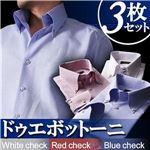 カラーステッチ ドゥエボットーニ ボタンダウンシャツ3枚セット カラー(ホワイト・レッド・ブルーチェック) 【Giorno ジョルノ BType】 LL