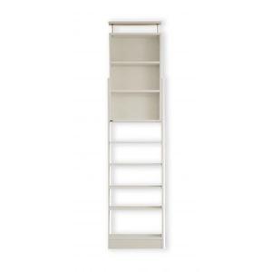 本棚 ホワイト 究極のこだわり本棚!突っ張り式!の詳細を見る