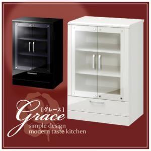 キャビネット【Grace】ブラック ハイグロス仕上げ収納【Grace】グレース フリーキャビネット 扉タイプの詳細を見る