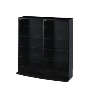 コレクションラック ローワイドタイプ 奥行19cm ブラック - 拡大画像