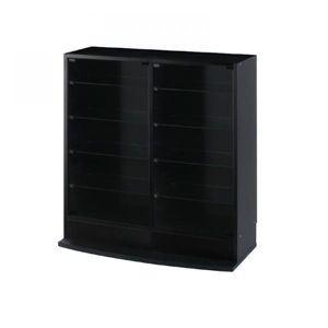 コレクションラック ローワイドタイプ 奥行29cm ブラック - 拡大画像