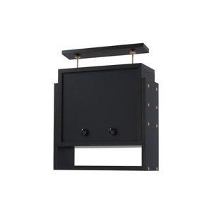 コレクションラック 奥行き19cm用 上置きロータイプ ブラック - 拡大画像