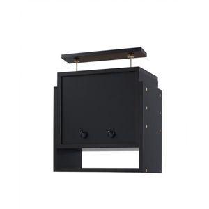 コレクションラック 奥行き29cm用 上置きロータイプ ブラック - 拡大画像