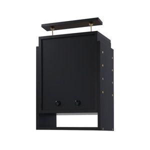 コレクションラック 奥行き29cm用 上置きハイタイプ ブラック - 拡大画像