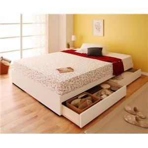 収納ベッド シングル【Slimo】【ポケットコイルマットレス付き】 ホワイト シンプル収納ベッド【Slimo】スリモ