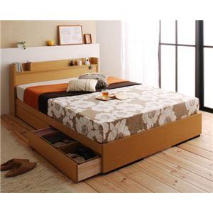 収納ベッド ダブル【Mona】【国産ポケットコイルマットレス付き】 コンセント付き収納ベッド【Mona】モナの詳細を見る