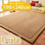 ラグマット 190×240cm 厚さ5mmタイプ【fiesta】ブラウン マイクロファイバーラグ【fiesta】フィエスタ