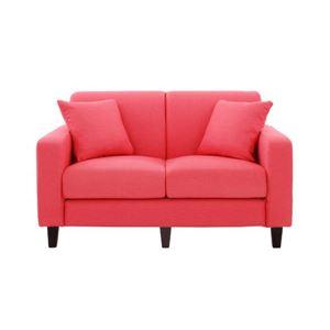 ソファー 幅130cm【LeJOY スタンダードタイプ】 ハッピーピンク 円錐/DB 【リジョイ】:20色から選べる!カバーリングソファ