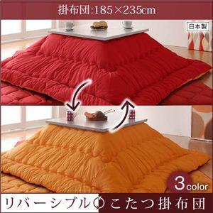 リバーシブルこたつ掛布団 4尺長方形サイズ 185×235cm ブラウン×ベージュ