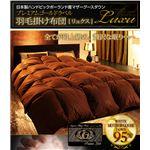 日本製ハンドピックポーランド産マザーグースダウンプレミアムゴールドラベル羽毛掛け布団【Luxu】リュクス シングル プレミアムアイボリー