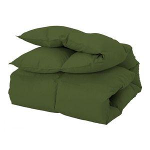 新20色羽根掛布団(セミダブル) オリーブグリーン