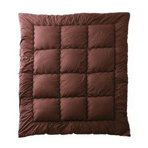 ボリューム羊毛混布団6点セット【FLOOR】フロア(ダブル) ブラウン