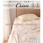 新マイクロファイバー毛布・敷パッドセット 【Crim】クリム ダブル アイボリー