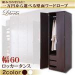壁面ワードローブ 【Liberta】リベルタ ロッカータンス 幅60 ダークブラウン