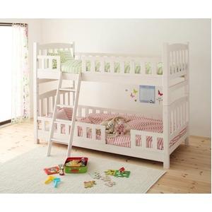 2段ベッド【fine】ホワイトウォッシュ 天然木コンパクト分割式2段ベッド【fine】ファイン