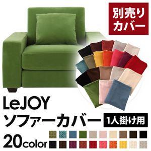 【単品】ソファーカバー 1人掛け用【LeJOY】ワイドタイプ グラスグリーン 【リジョイ】:20色から選べる!カバーリングソファの詳細を見る