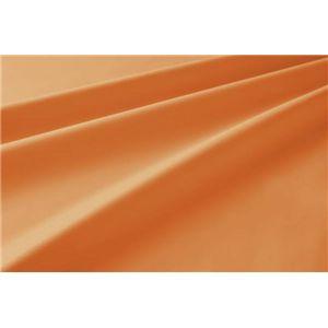新20色羽根布団8点セット洗い替え用布団カバー3点セット(セミダブル) ベッドタイプ サニーオレンジ