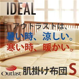 オールシーズン温度調整素材アウトラスト(R)シリーズ 【IDEAL】アイディール 肌掛布団(シングル) 肌アイボリー - 拡大画像