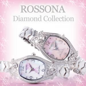 ROSSONA天然ダイヤ100石ウォッチ 「Marvel Heart(マーベルハート)」 ピンクスクリーン・Silver Rose - 拡大画像
