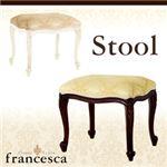 アンティーク調クラシック家具シリーズ【francesca】フランチェスカ:スツール ホワイト