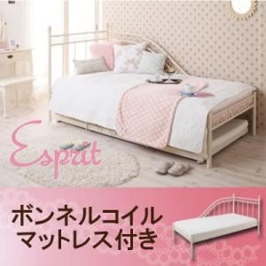 ベッド【Esprit】【ボンネルコイルマットレス付き】 ロマンティック姫系アイアンベッド【Esprit】エスプリ - 拡大画像