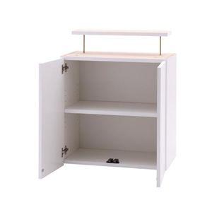 用途で選べるつっぱり壁面キャビネット【Any】エニー 専用上置き LLサイズ ホワイト