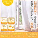 昼も夜も見えにくい!結露軽減・防カビ・保温・UVカットミラーレースカーテン【finestra】フィネストラ 幅100×176cm(2枚組) ホワイト