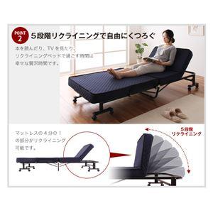 ベッド 低反発折りたたみリクライニングベッド【Belta】ベルタ画像3